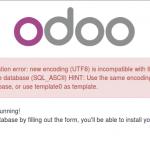 Erreur lors de la creation de BD Odoo