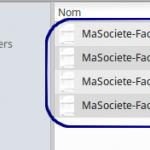 Paramétrer le nom des fichiers factures