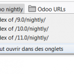 Odoo nightly website